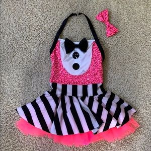 Weissman Dance Costume - Pink/White/Black Dress